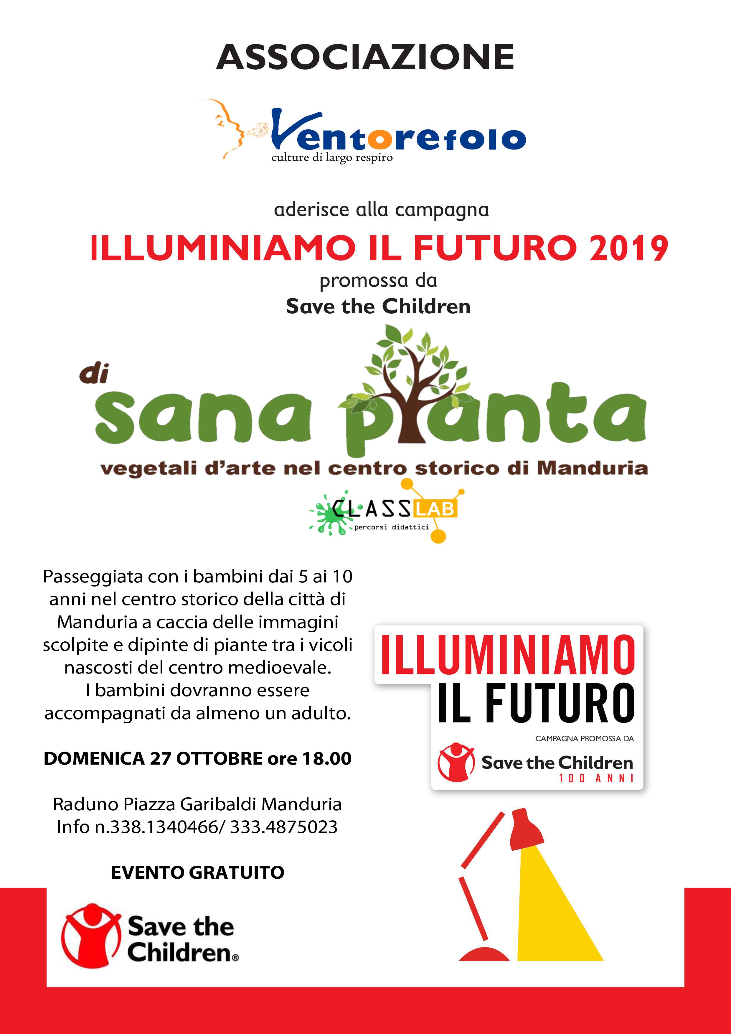 locandina A4 DI SANA PIANTA_ILLUMINIAMO IL FUTURo2019